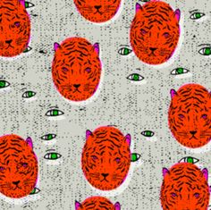 folka_tiger_eye by holli_zollinger on Spoonflower