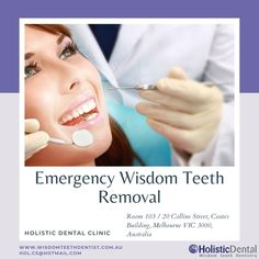 If you have any problems with Wisdom Teeth and looking for Emergency Wisdom Teeth Removal service then contact Holistic Dental Clinic who has expert dentists for Wisdom Teeth Removal. For more details call us on 96622420. Teeth Surgery, Teeth Dentist, Wisdom Teeth Removal, Emergency Dentist, Melbourne Cbd, Removal Services, Dentists, Clinic, Dental