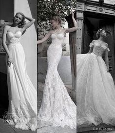 A beautiful balance between Holywood glamour and whimsical romance. Galia Lahav Wedding Dresses 2012