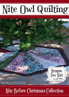 Nite Before Christmas Hexagon Tree Skirt PDF by NiteOwlQuilting, $9.00