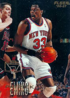 1996 - 97 Fleer #71 Patrick Ewing New York Knicks Basketball Card - MINT #