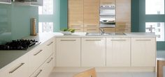 High gloss oak kitchen doors are a timeless classic #oak #wooden #doors #kitchen #DIY #homeimprovements #storage #interiors