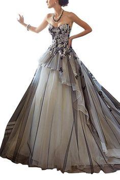 GEORGE BRIDE A linea di retro garza nero abito da sposa,Taglia 48,nero EURO 189,00