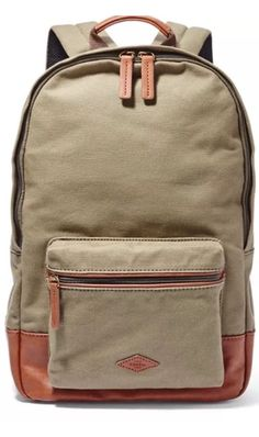 f33cad49ad94  98 Fossil MBG9217345 Olive Estate Multi Use Unisex Durable Backpack Book  Bag  Fossil  BackpackStyle