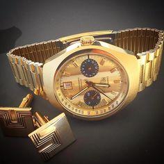 Gold barrel Carreraby @neutrino14 #vintage #heuer #vintageheuer #heuercarrera #carrera #tagheuer #gold #calibre11