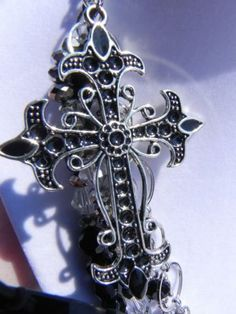Cross Pendant Chunky Multi Strand Necklace by FabuLushLadies for $45.00