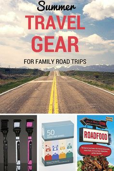 Summer family road trip travel gear guide -- know what you need before you hit the road! Road Trip With Kids, Family Road Trips, Travel With Kids, Family Travel, Italy Travel, Travel Usa, Usa Roadtrip, Travel Quotes, Travel Posters