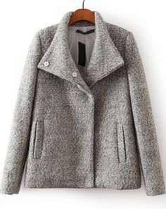 Abrigo de lana botones-gris 34.06