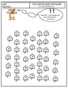 okul-öncesi-sayı-egzersizleri-sayıları-boya-12.gif (1006×1302) Preschool Math, In Kindergarten, Worksheets, Alphabet, Mandala, Diagram, Kids, Activities