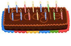 Doodle Google con torta e candeline per i 14 anni del motore di ricerca