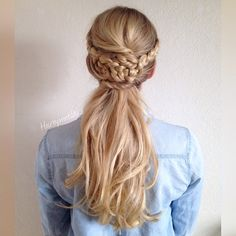 """1,101 Likes, 40 Comments - Hair by Matilda (@hairbymatilda) on Instagram: """"Updo on Lina for todays swedish midsummer celebration! Double french braids in front into a messy…"""""""