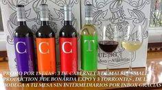 Vinos Argentinos promociòn Malbec Cabernet Bonarda Torrontes.