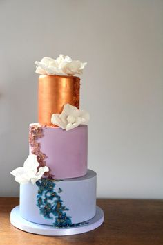 Cherry Tree Cakerie - Beautiful & Delicious Wedding Cakes - Girl Gets Wed Fruit Flowers, Beautiful Wedding Cakes, Drip Cakes, Cherry Tree, Fondant Cakes, Desserts, Food, Cherry Fruit Tree, Tailgate Desserts