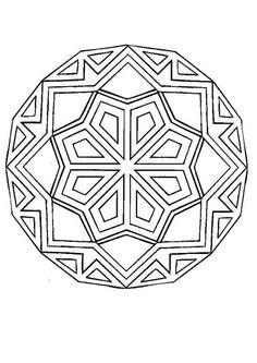 Mandalas para AVANÇADOS - Mandala com formas geométricas para colorir