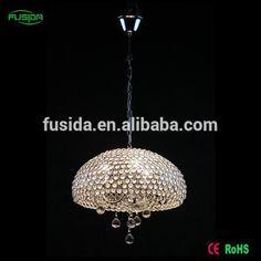 Zhongshan manufactuer coralline shape 3 lamps single crystal pendant lamps decoration/chandeliers lamps