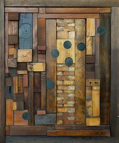 Zipper Scar: Heather Patterson: Wood Wall Art - Artful Home / Something like this would make an awesome front door.