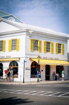 The Irish Linen Shop on Front Street, Hamilton, Bermuda.