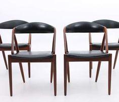 Kai Kristiansen chair 31 model side teak rosewood vinyl leather danish modern design schou andersen