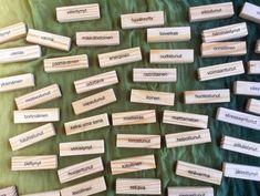 Tunnesanat Huojuva torni -palikoissa #tunnetaidot #työnohjaus #dymo #tunteet #mieli #fiilis #tunteet #fiiliskierros #ryhmänohjaus Emotion, Nursing, Cards, Breast Feeding, Nurses