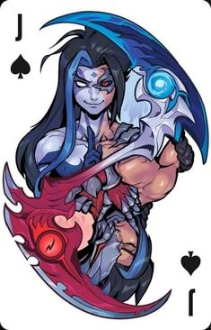 - League of Legends Lol League Of Legends, League Of Legends Characters, Leg Of Legend, Game Character, Character Design, Cool Playing Cards, Lol Champions, Tomb Raider Cosplay, Undertale Fanart