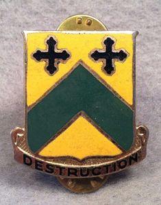 US Army 815th Tank Battalion DUI Monarch CB DI Pin Badge Unit Crest 133D