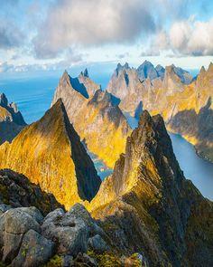 In the Lofoten archipelago in Norway.