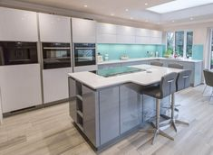 Our simply stunning Nolte handleless kitchen in Arctic White and Corona. Handleless Kitchen, Real Kitchen, Kitchen Images, Decoration, Modern Kitchens, Arctic, Table, Kitchen Inspiration, Furniture Ideas
