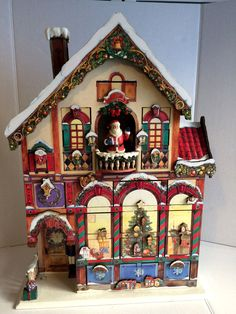 Large Victorian House Christmas Wood Advent Calendar 24 Wooden Doors, Costco