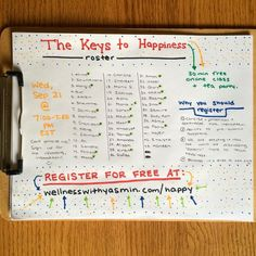 I made a new roster to honor all of you who registered since yesterday. Here are the 43 people signed up for tomorrow's free online class / tea party on Happiness. Those of you attending live will see a green asterisk by your name. You can still register at http://ift.tt/2cAogXl