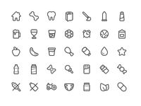 Icon set for online grocery shop
