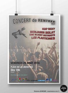 Affiche fictive pour le concert de rentrée 2014 de Dijon.