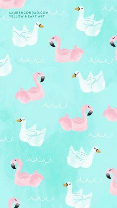Summer float tech wallpaper by Yellow Heart Art