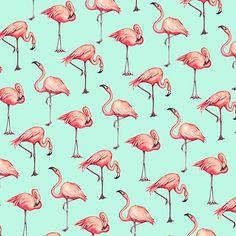 Flamingo Pattern - Blue