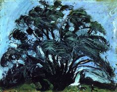 Chaïm Soutine - Tree in the wind, c. 1939. Oil on canvas, 68.9 cm (27.13 in.) x 86 cm (33.86 in.).