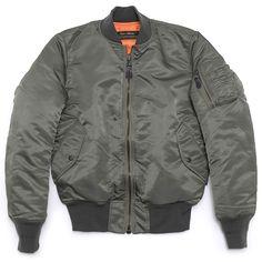 Low Hurtz - MA-1 Slim Fit Reversible Down Jacket - Sage