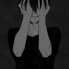 alone, anime, anime art, anime couple, anime guy, anime sad, art, black and white, boy, couple, cry, cute, cute anime, dibujo, draw, dream, guy, illustration, kawaii, love, manga, manga boy, monochrome, nice, sad, tumblr, anime black and white, anime cry