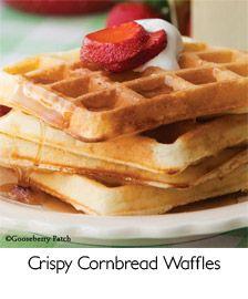 Crispy Cornbread Waffles