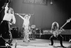 British rock band Uriah Heep at the London Music Festival at Alexandra Palace, London, 5th August 1973. Left to right: guitarist Mick Box, singer David Byron (1947 - 1985), drummer Lee Kerslake and bassist Gary Thain (1948 - 1975).