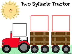Target syllable reduction with this cute two-syllable tractor pull. Includes 18 spondee words and 18 regular two-syllable words Speech Pathology, Speech Language Pathology, Speech And Language, Language Arts, Speech Therapy Activities, Language Activities, Learning Activities, Articulation Activities, Phonological Awareness Activities