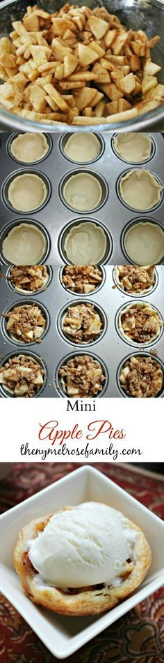 Mini Apple Pies are our favorite individual dessert. Perfect party dessert idea.