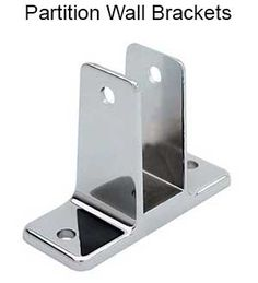 Global Partitions Chrome Zamac Double Ear Bracket Set Pinterest - Bathroom partition brackets