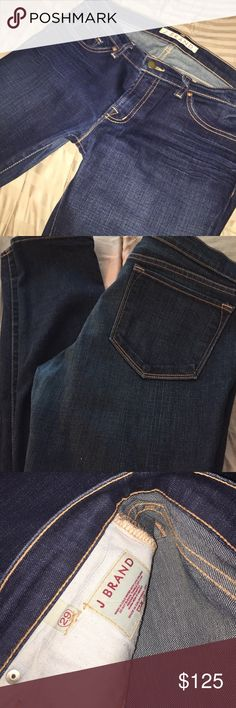 Authentic J Brand Jeans in great condition!!! Hardly worn! Great condition! Awesome feel and amazing color on these J Brand jeans. Get an awesome pair of jeans in need of a good home at a discount!!!! Size 29 - style 912 DKV per the tag / 98% cotton, 2% spandex / cut # 183 - just don't fit me anymore and hate them to go to waste!!! Need some love! J Brand Jeans Skinny