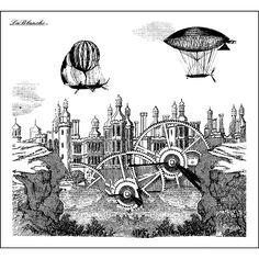LaBlanche Silicone Stamp Steampunk City