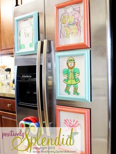Check out these unique and easy ideas for displaying your child's art around the home.