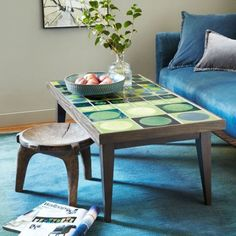 Lubna Chowdhary Tiled Coffee Table - Green