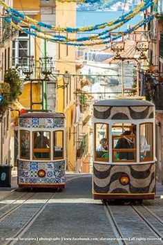Cable Cars in Lisboa, Portugal