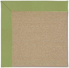 Zoe Sisal Machine Tufted Green/Brown Area Rug