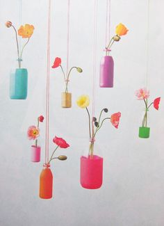 FLOWERS | Hilary-Walker-for-Frankie-Magazine-Flowers-hanging-in-colourful-bottles