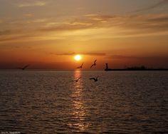 Ηλιοβασίλεμα στον Θερμαϊκό κόλπο