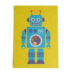 deze heeft Amélie ook :D ik vind em zo leuk <3     Afbeelding van Kaart, robot